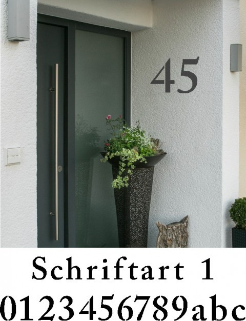 Hausnummer Schablonen Schriftart 1