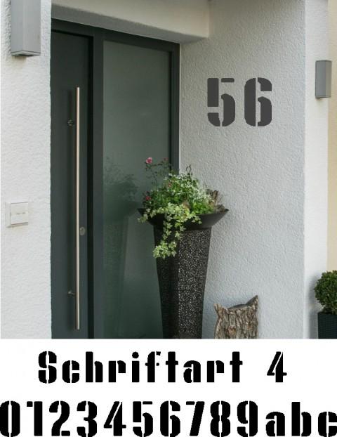 Hausnummer Schablonen Schriftart 4