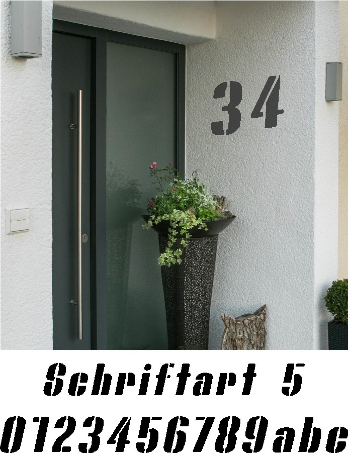 Hausnummer Schablonen Schriftart 5