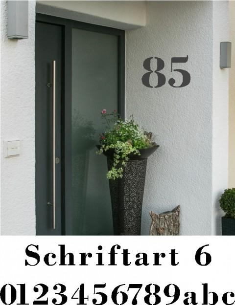 Hausnummer Schablonen Schriftart 6