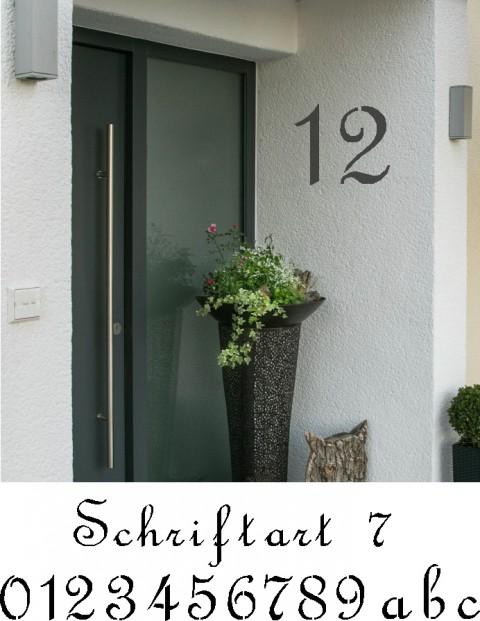 Hausnummer Schablonen Schriftart 7