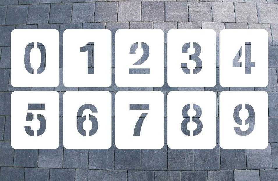 Zahlenschablonen