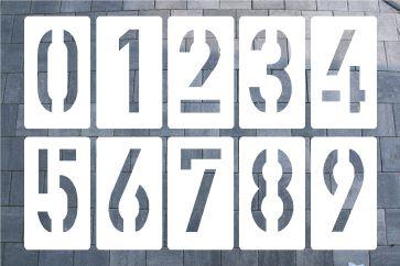 DIN 1451 Zahlenschablone aus Kunststoff