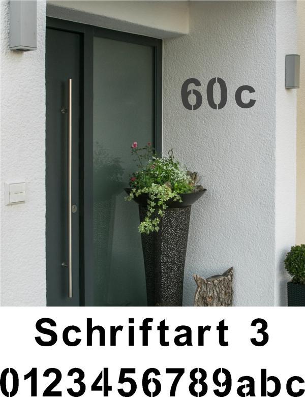 Hausnummer Schablonen Schriftart 3