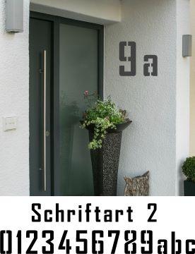 Hausnummerschablonen zum Ausmalen - Schriftart 2
