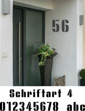 Hausnummerschablonen zum Ausmalen - Schriftart 4