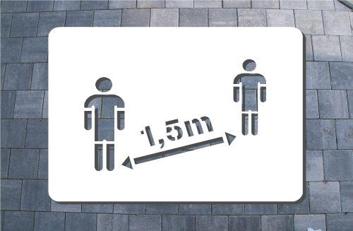 Bodenschablone Sprühen Abstand 1,5 mBenindertenparkplatz