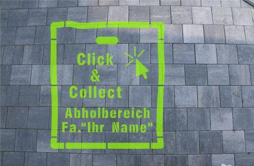 Click & Collect Sprühschablone