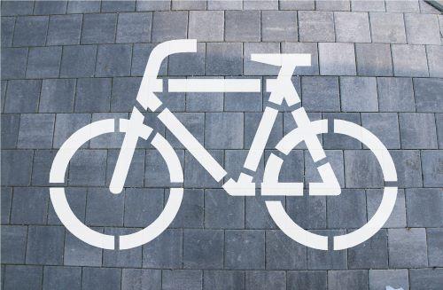 Bodenlogoschablone zum Sprühen Fahrrad