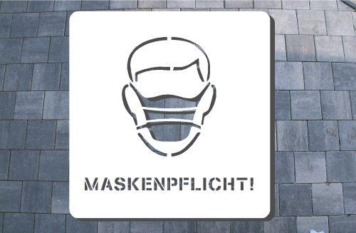 Maskenpflicht Schablone
