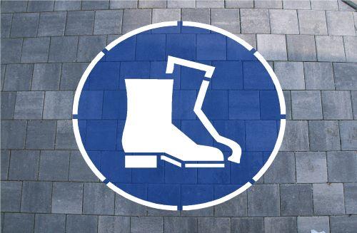 Sicherheitsschuhe Bodenmarkierung zum Malen oder Sprühen