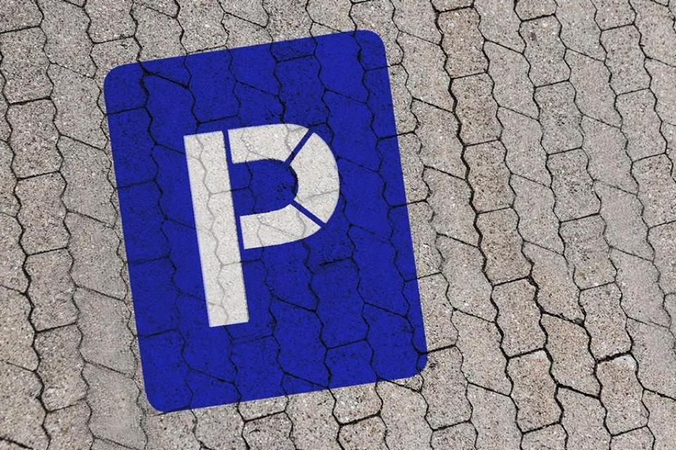Parkplatz Schablone