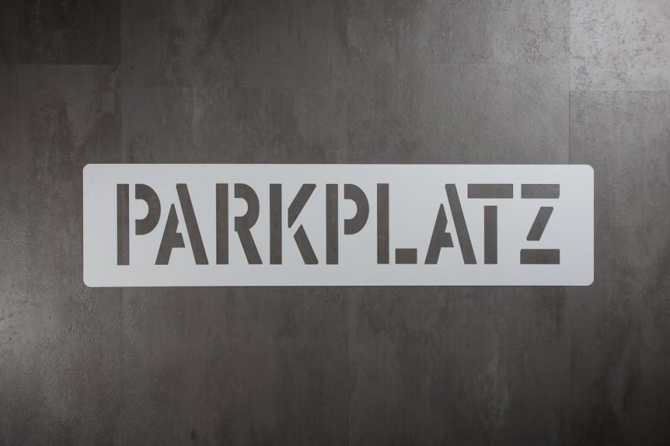 Bodologoschablone zum Sprühen  Parkplatz
